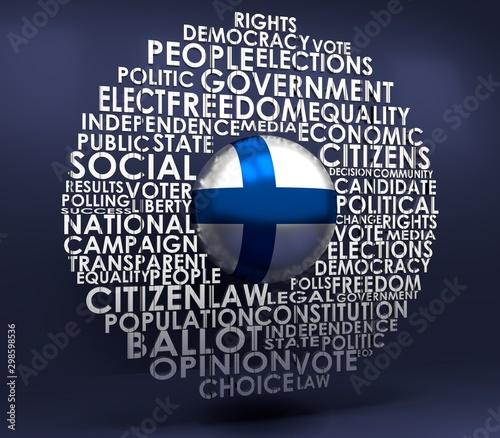 Fényképezés  Words cloud relative for voting