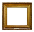 Picture wooden ornate frame for design on white isolated background
