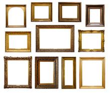 Set Of Three Vintage Golden Ba...