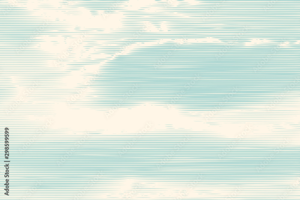 Fototapety, obrazy: clouds, retro engraving style. design element. vector illustration