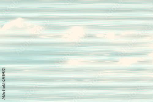 Valokuvatapetti clouds, retro engraving style