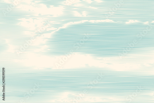Foto op Plexiglas Wit clouds, retro engraving style. design element. vector illustration