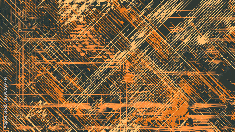 Fototapety, obrazy: Abstract Vector Background. Grunge Halftone Textures. Vector Illustration.