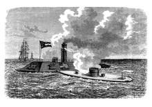 USS Merrimack Steam Frigate La...
