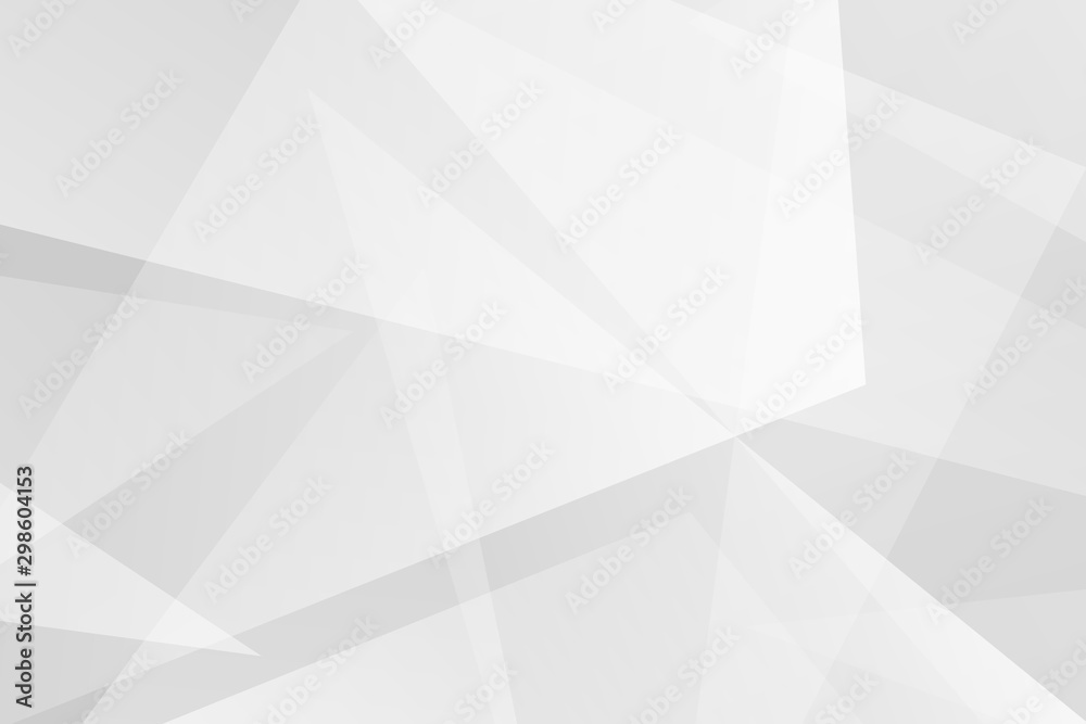 Fototapety, obrazy: Abstract white and grey on light silver background modern design. Vector illustration EPS 10.