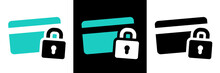 Secure Payment Credit Card Pictogram On Different Background