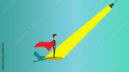Fotomural Man hiring spotlight recruiter career leader business vector