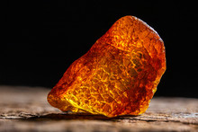 Natural Amber. A Piece Of Yell...
