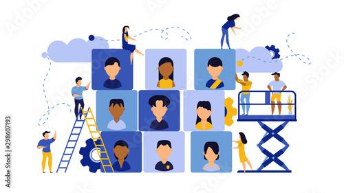 Fotografía Job career business success agency audience vector illustration