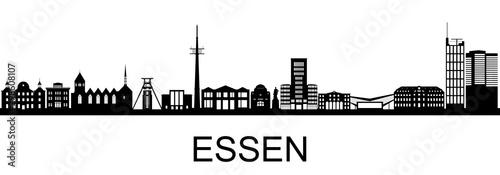 Canvas Print Essen, Skyline