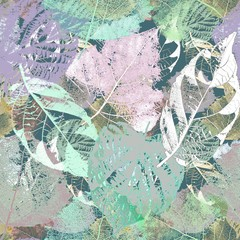 Fototapeta Liście Seamless floral pattern. Colorful autumn leaves.