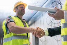Handshake On The Construction Site