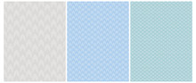 Abstract Geometric Seamless Vector Prints.White Arrows Isolated On A Blue, Turquoise And Light Gray Backgrounds.Lovely Canvas Style Repeatable Vector Design Ideal For Fabric, Textile, Wraping Paper.