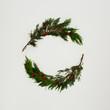 Leinwanddruck Bild - Composición hecha con elementos navideños