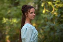 Girl In A Victorian Dress. Edw...