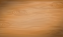 Brown Wooden Cutting, Chopping Board, Table Or Floor Surface. Wood Texture. Vector Illustration