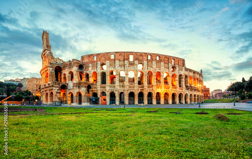 Fototapeta Colosseum morning in Rome, Italy