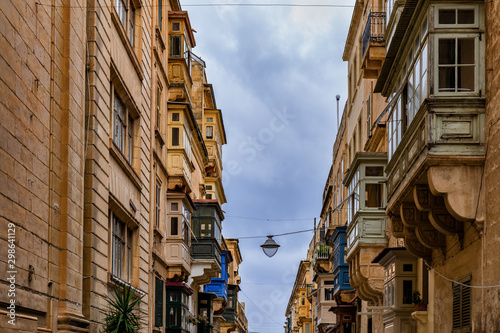Old Maltese Houses With Balconies In Valletta