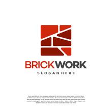 Modern Flat Brick Logo, Brick ...