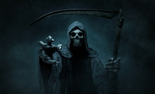 Grim Reaper Reaching Towards T...