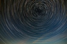 Star Trail In The Night Sky Wi...