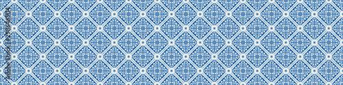 Photo Portuguese Mosaic Tile Seamless Border Pattern