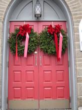 Beautiful Red Church Doors Ado...