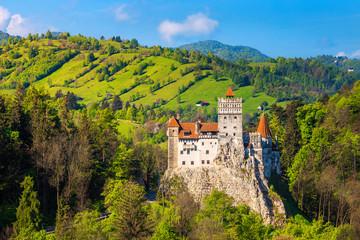Spectacular Dracula castle near Brasov, Bran, Transylvania, Romania, Europe