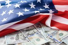 USA National Flag And The Doll...