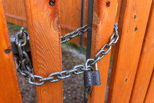 Steel Chain With Padlock Locks...