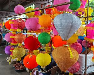 Fototapeta na wymiar Diwali Lantern for decoration in market