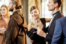 Elegant People Celebrating Indoors