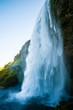 canvas print picture - Wasserfall Island