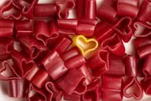 Colorful Heart Shape Macaroni Pasta