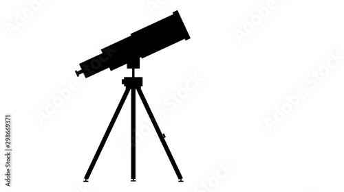 Foto icona, telescopio, osservazione, spazio, universo