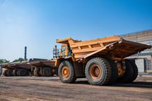 Quarry Truck Drives Alone Indu...