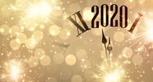 Gold Bokeh New Year 2020 Backg...