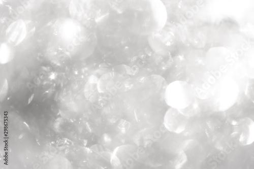 white blur abstract background. bokeh christmas blurred beautiful shiny Christmas lights