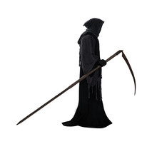 Silhouette Of A Grim Reaper Is...