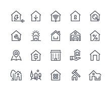 Home Line Icons. Browser Inter...