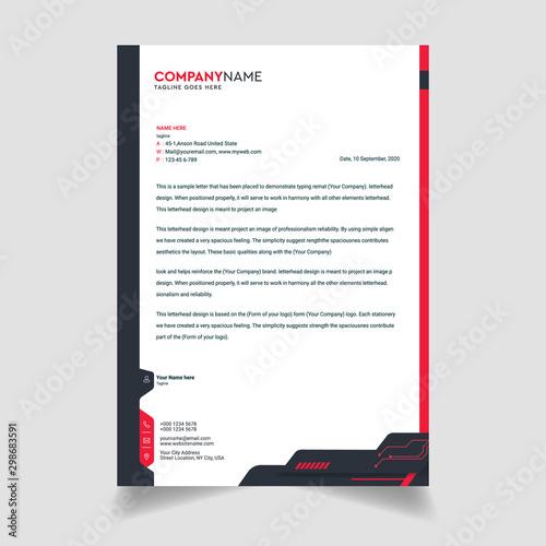 Fototapeta Business style letterhead template design obraz