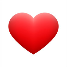 Vector Red Heart Shape Emotico...