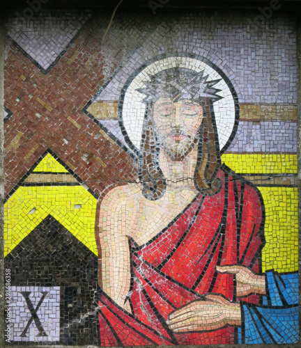Mosaic - Tenth Station of the Cross Ballina County Mayo Ireland (2019) © af99999