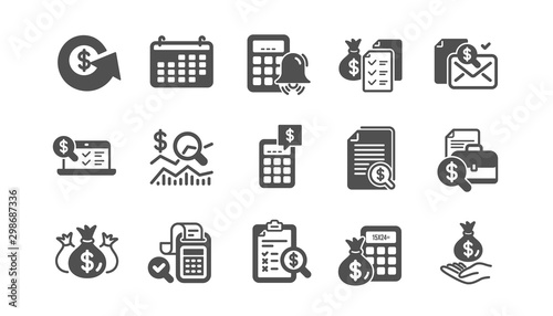 Accounting icons Canvas Print