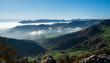 Aussicht von der Wasserfallen BL, Chellenchöpfli auf das Nebelmeer in Solothurn an einem wunderschönen Herbsttag