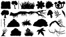 Set Of Silhouette Trees And Fl...