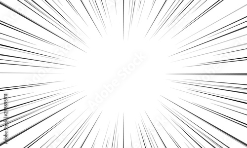 Black and White Sun Rays pattern background Creative vector design Canvas Print