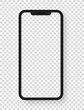 Modern mobile phone layered vector template isolated on white background