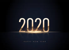 Happy New 2020 Year Elegant Go...