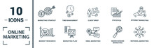 Online Marketing Icon Set. Inc...